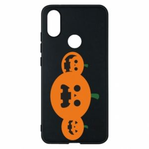Phone case for Xiaomi Mi A2 Pumpkins with scary faces - PrintSalon