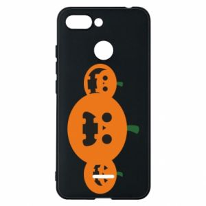 Phone case for Xiaomi Redmi 6 Pumpkins with scary faces - PrintSalon