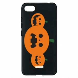 Phone case for Xiaomi Redmi 6A Pumpkins with scary faces - PrintSalon