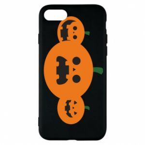 Phone case for iPhone 7 Pumpkins with scary faces - PrintSalon