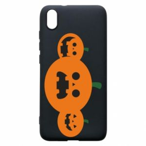 Phone case for Xiaomi Redmi 7A Pumpkins with scary faces - PrintSalon