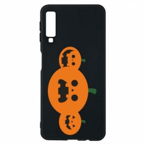 Phone case for Samsung A7 2018 Pumpkins with scary faces - PrintSalon