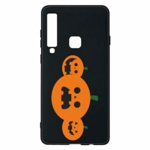Phone case for Samsung A9 2018 Pumpkins with scary faces - PrintSalon