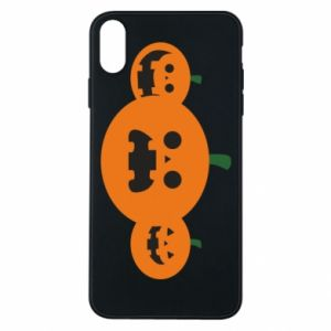 Etui na iPhone Xs Max Pumpkins with scary faces