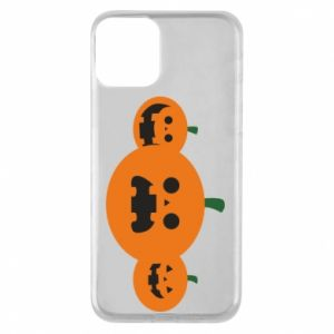 Etui na iPhone 11 Pumpkins with scary faces