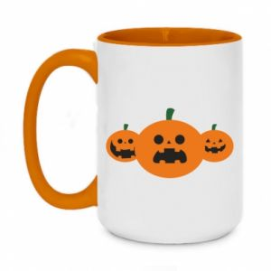 Kubek dwukolorowy 450ml Pumpkins with scary faces