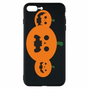 Phone case for iPhone 7 Plus Pumpkins with scary faces - PrintSalon