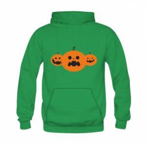 Bluza z kapturem dziecięca Pumpkins with scary faces