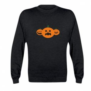 Bluza dziecięca Pumpkins with scary faces