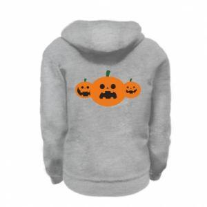 Bluza na zamek dziecięca Pumpkins with scary faces