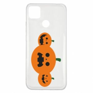 Etui na Xiaomi Redmi 9c Pumpkins with scary faces