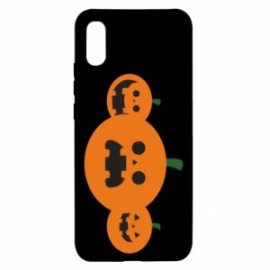 Etui na Xiaomi Redmi 9a Pumpkins with scary faces