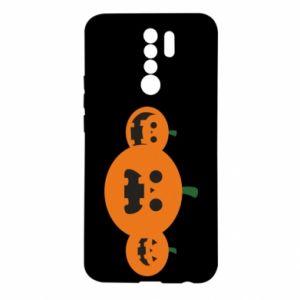Etui na Xiaomi Redmi 9 Pumpkins with scary faces