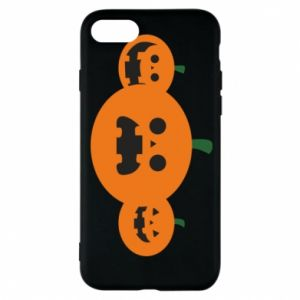 Phone case for iPhone 8 Pumpkins with scary faces - PrintSalon