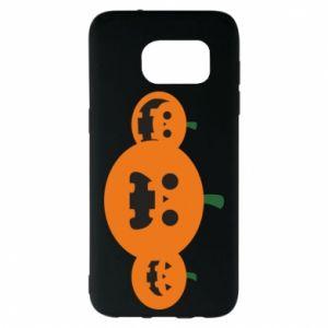 Etui na Samsung S7 EDGE Pumpkins with scary faces