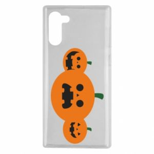 Etui na Samsung Note 10 Pumpkins with scary faces