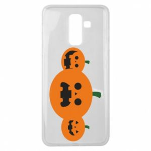 Etui na Samsung J8 2018 Pumpkins with scary faces