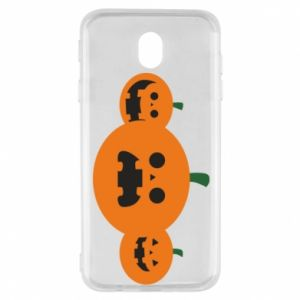 Etui na Samsung J7 2017 Pumpkins with scary faces