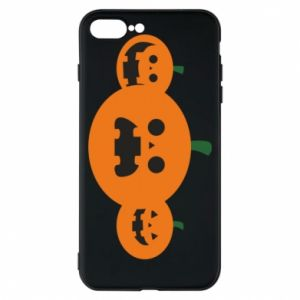 Phone case for iPhone 8 Plus Pumpkins with scary faces - PrintSalon