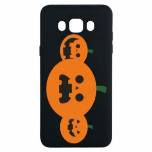 Etui na Samsung J7 2016 Pumpkins with scary faces