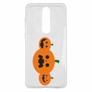 Etui na Nokia 5.1 Plus Pumpkins with scary faces