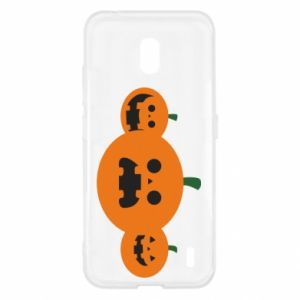 Etui na Nokia 2.2 Pumpkins with scary faces