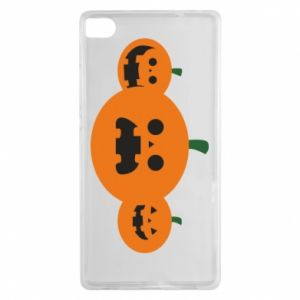 Etui na Huawei P8 Pumpkins with scary faces