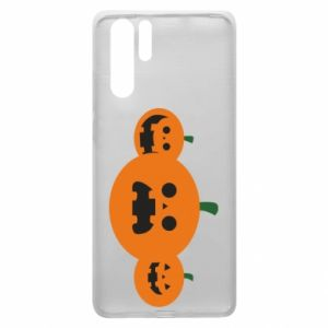 Etui na Huawei P30 Pro Pumpkins with scary faces