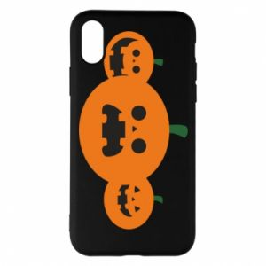 Phone case for iPhone X/Xs Pumpkins with scary faces - PrintSalon