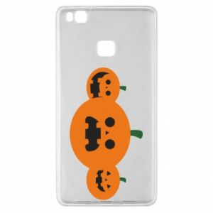 Etui na Huawei P9 Lite Pumpkins with scary faces