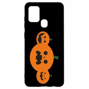 Etui na Samsung A21s Pumpkins with scary faces