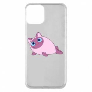 Etui na iPhone 11 Purple cat mermaid