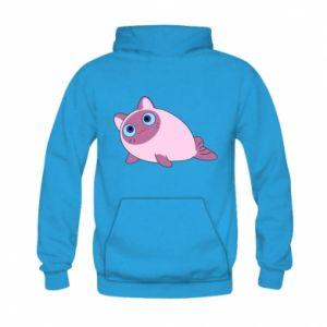 Bluza z kapturem dziecięca Purple cat mermaid