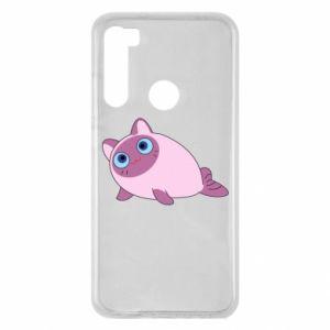 Etui na Xiaomi Redmi Note 8 Purple cat mermaid