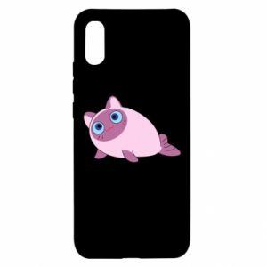 Etui na Xiaomi Redmi 9a Purple cat mermaid