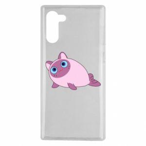 Etui na Samsung Note 10 Purple cat mermaid