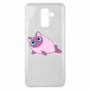 Etui na Samsung J8 2018 Purple cat mermaid