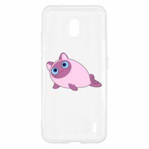 Etui na Nokia 2.2 Purple cat mermaid
