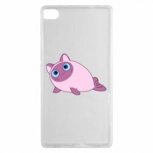 Etui na Huawei P8 Purple cat mermaid