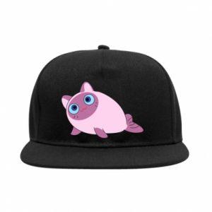 SnapBack Purple cat mermaid - PrintSalon