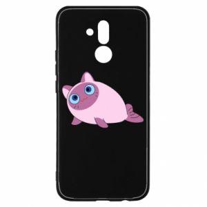 Etui na Huawei Mate 20 Lite Purple cat mermaid