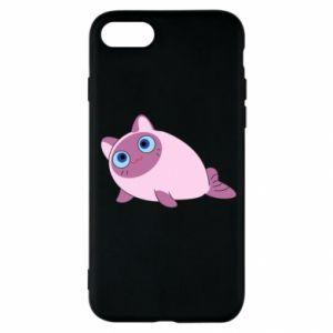 Etui na iPhone SE 2020 Purple cat mermaid