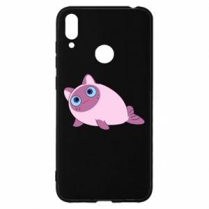 Etui na Huawei Y7 2019 Purple cat mermaid