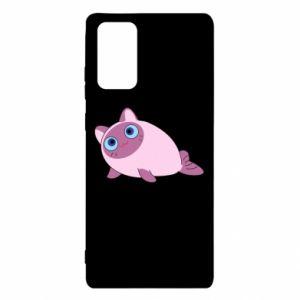 Etui na Samsung Note 20 Purple cat mermaid