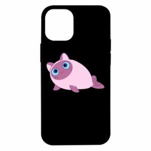 Etui na iPhone 12 Mini Purple cat mermaid