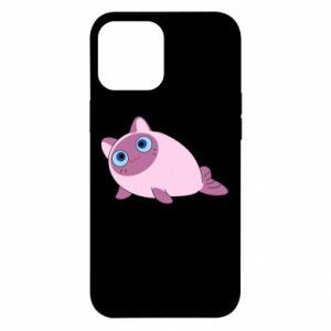 Etui na iPhone 12 Pro Max Purple cat mermaid