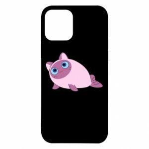 Etui na iPhone 12/12 Pro Purple cat mermaid