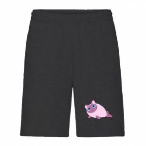 Men's shorts Purple cat mermaid - PrintSalon