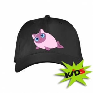 Kids' cap Purple cat mermaid - PrintSalon