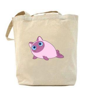 Bag Purple cat mermaid - PrintSalon